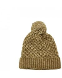 Coccinelle Pompom Beanie - Yellow