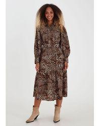 B.Young Bxjani Dress Animal Print - Brown