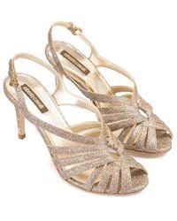 Roberto Cavalli Glittered Sandal - Metallic