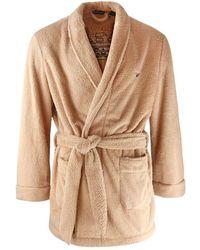 Emporio Armani Logo Dressing Gown - Brown