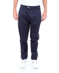 Entre Amis Trousers Chino Men Dark Blue