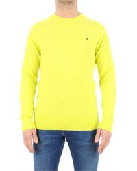 Tommy Hilfiger Men's Mw0mw12254lre Yellow Cotton Jumper