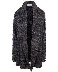 Haris Cotton Wool Blend Oversized Cardigan - Anthracite - Grey