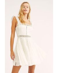 Free People Verona Mini Dress In Ivory - White