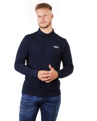 Barbour Long Sleeved Polo Top - Blue