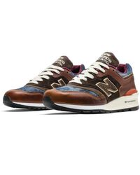 New Balance 997 Made In The Usa Brown & Denim Sneakers