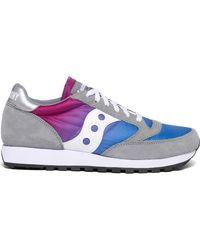 Saucony Jazz Original Vintage (fade) Trainers - Grey/blue/pink