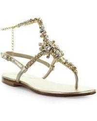 Giallo Positano - Platinum Sandal With Anklet - Lyst