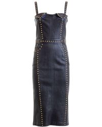 Versace Jeans Couture Studded Coated Dress - Black