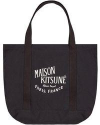 Maison Kitsuné Palais Royal Tote Bag - Black