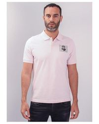 Kent & Curwen Small Rose Polo Shirt Colour: Powder Pink