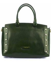 The Bridge Hand Bag In Leather - Green