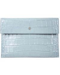 McQ Clutch With Skull - Blue