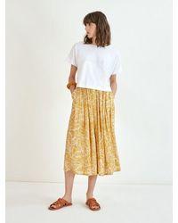 Suncoo Farrah Skirt In Ochre - Multicolor