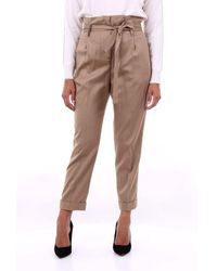 Peserico Biscuit-colored Chino Trousers - Brown