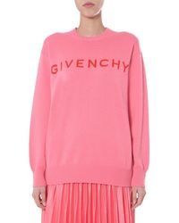 Givenchy Pink Jumper With Logo