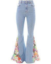 Gcds Cotton Jeans - Blue