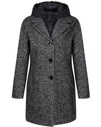 Creenstone - Women's 2-in-1 Waterproof Black Coat - Lyst