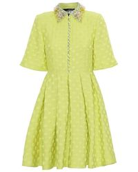 Custommade• Sohan By Numbers Dress - Sulphur Spring - Yellow