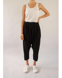 Busby & Fox Lally Drop Crotch Trousers - Black