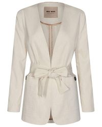 Mos Mosh Tropez Linen Blazer - White