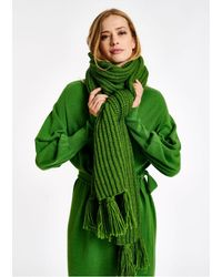 Essentiel Antwerp Antwerp - Long Ribbed-knit Scarf - Green