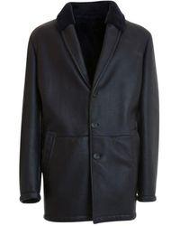 Corneliani Shearling Coat - Blue