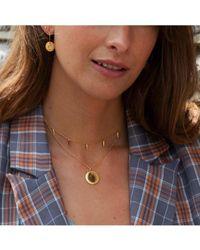 Orelia Luxe Coin Charm Necklace - Metallic