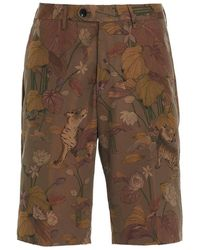 Etro Men's 1w6564055800 Green Other Materials Shorts