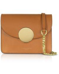 Le Parmentier Women's 081caramel Brown Leather Shoulder Bag
