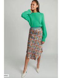 Wyse London Wyse Charlotte Silk Skirt - Multicolor