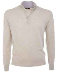 Ones Men's 30005075653311 Beige Cashmere Sweater - Brown