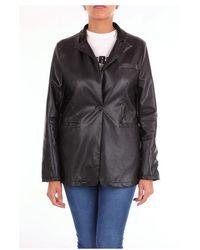 NA-KD Jackets Leather Jackets Women Black