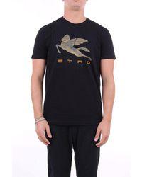 Etro T-shirt Short Sleeve Men Black