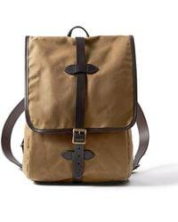 Filson Tin Cloth Backpack Dark Tan - Brown