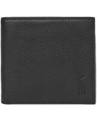 Ralph Lauren Billfold Wallet – Pebbled - Black