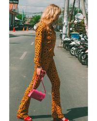 FABIENNE CHAPOT Cyprus Leopard Jacket - Orange