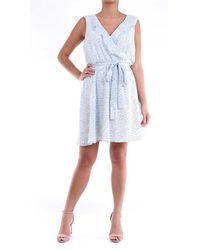 Molly Bracken Short Bi-color Dress - Blue