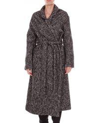 Altea Coat Women Black And White