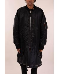 Maison Mihara Yasuhiro Coat Deconstructed Ma-1 - Black