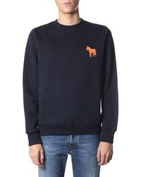 PS by Paul Smith Zebra Cotton Sweatshirt - Blue