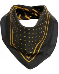 Part Two Nabia Gold Scarf - Black