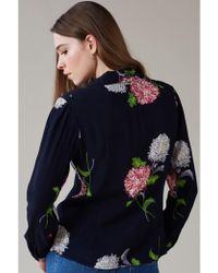 Emily and Fin - Elspeth Dahlia Floral Long Sleeve Blouse - Lyst