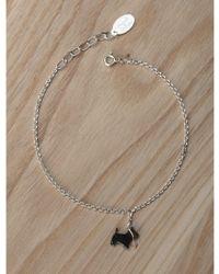 Amanda Coleman - Scottie Dog On A Lead Bracelet In Black - Lyst