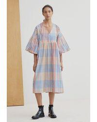 Kowtow • Yoshi Dress • Painter Check - Blue