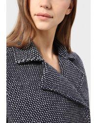 Stefanel Rush Stitch Pea Coat - Grey