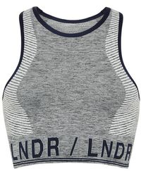 LNDR Marl Aero Sports Bra - Grey