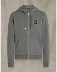 Belstaff Zip Up Hoodie - Grey