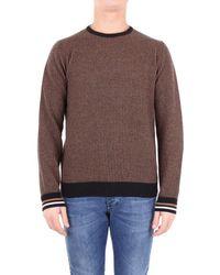 Altea - Sweater Men Black And Camel - Lyst