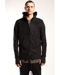 Thom Krom Eco Fur Zip Up Hooded Jacket Black Colour: Black,
